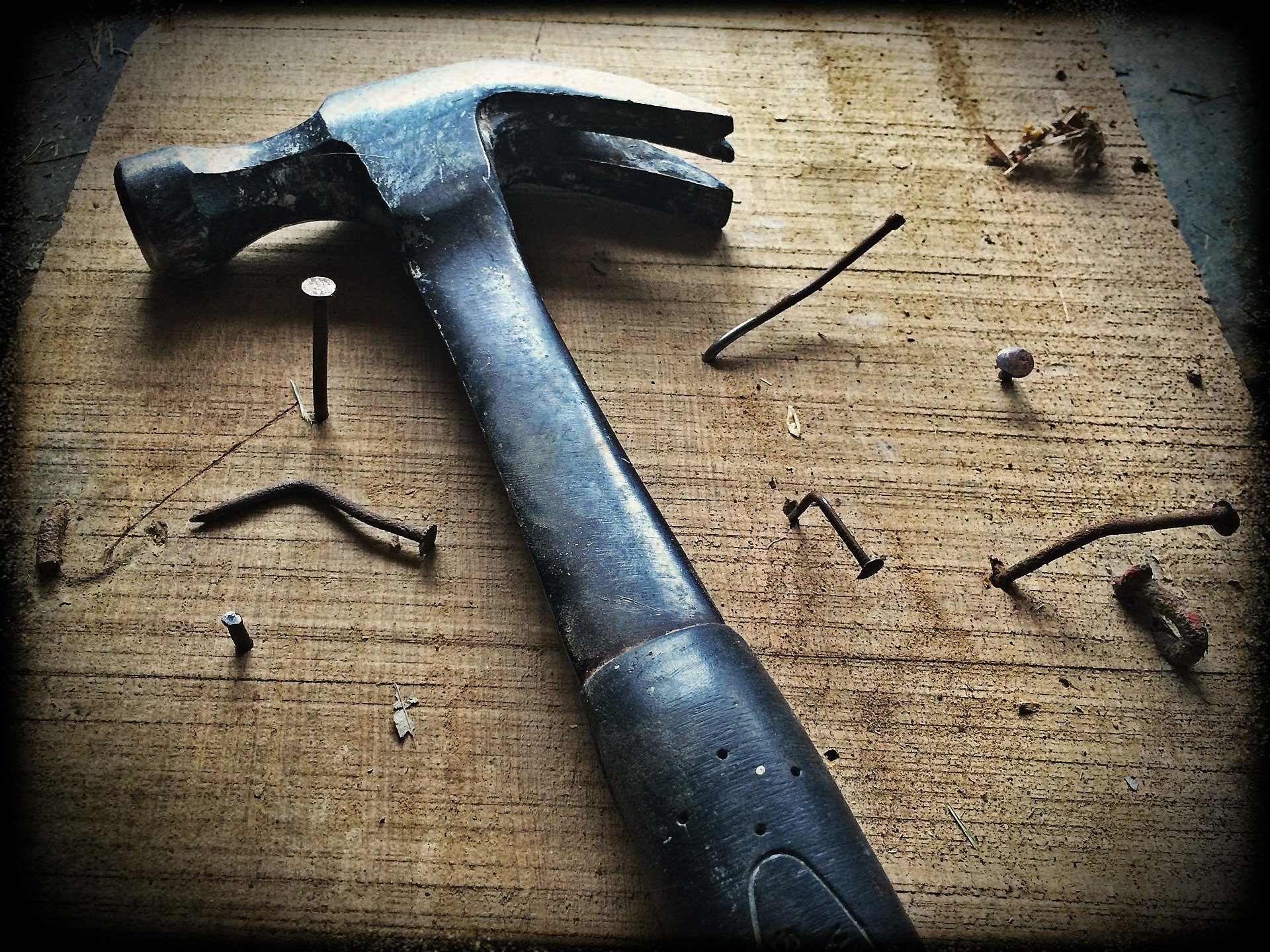 hammer with nails