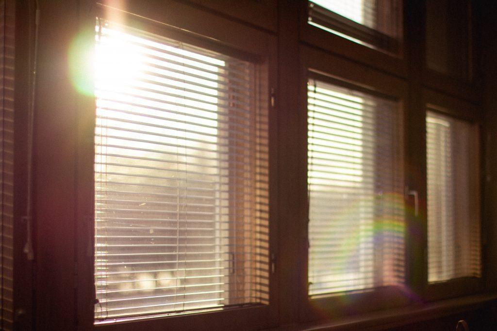 sun shining in window